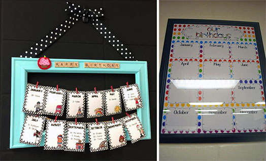 Le Frame Shoppe Blog | Classroom decor using frames