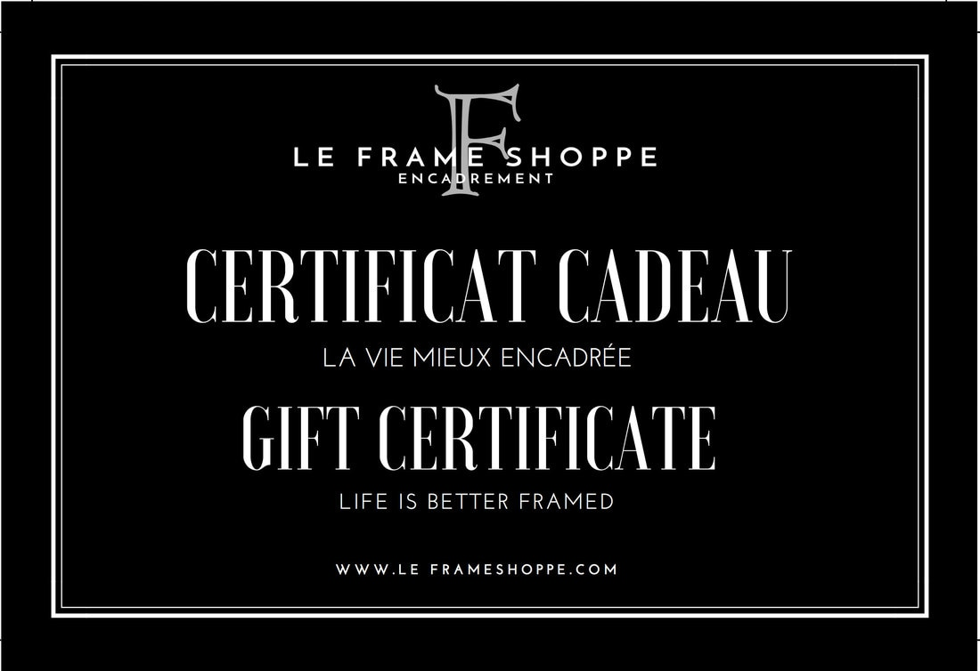 Le Frame Shoppe | Gift certificate