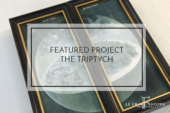 Le Frame Shoppe Blog | Featured Project | The Triptych