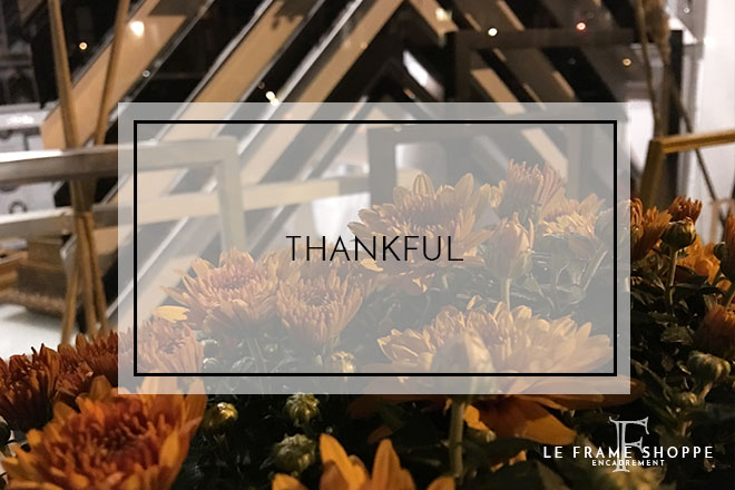 Le Frame Shoppe Blog | Thankful