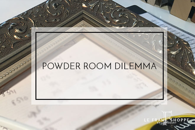 Le Frame Shoppe Blog | Powder Room Dilemma